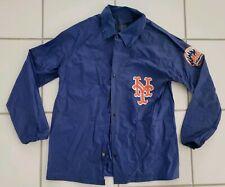 Vintage 1980s NY New York METS Official Windbreaker Raincoat Jacket Size Large