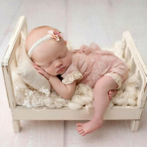 Newborn Studio Photography Prop Baby Backdrop Wood Bed Crib Kids Cot Posing Sofa