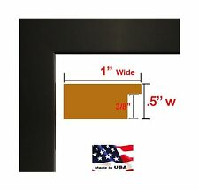 14x17 Custom Flat Black Satin Picture Poster & Photo frame Wood... Free Shipping