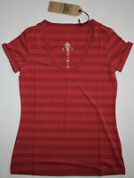 Alp-n-Rock Womens Small 2 Heather Red Summer Berry Lena Short Sleeve T-Shirt New