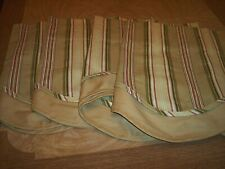sale 4 lovely valances from J. C. Penny, striped with solid underskirt