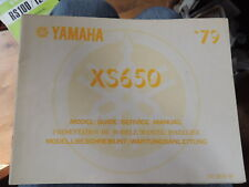 Yamaha Twin XS 650 Model Guider Service Manual Wartungsanleitung 1979 original