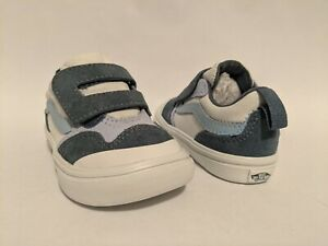 Vans New ComfyCush New Skool V Autism Awareness Blue Vault Toddler Size USA 5