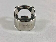Florida Beer Bottle Opener Ring Stainless Steel Engraved Bar Tool