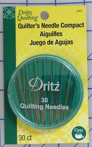 Dritz  Quilting, Quilter's Needle Compact 30/Pkg, Betweens Assortment Pack.