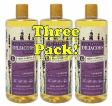 Dr Jacob's Naturals Pure Castile Liquid Soap 32oz (3-PACK) Pick From 12 Scents!