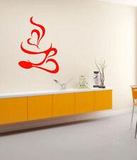 Wall Vinyl Sticker Bedroom Design Coffee cup heart breakfast kitchen room bo2721