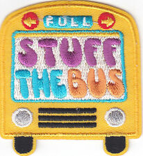 """STUFF THE BUS"" PATCH -Iron On Applique Patch/School,  Vehicle, Children, Trip"