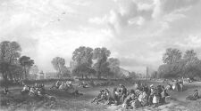 LONDON, HYDE PARK CRYSTAL PALACE GREAT EXHIBITION ~ Old 1851 Art Print Engraving