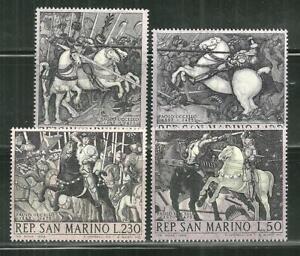 "SAN MARINO 688-91 MNH ""BATTLE OF SAN ROMANO"" BY PAOLO UCCELLO"