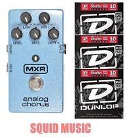 MXR Dunlop M-234 Analog Chorus Guitar Effects Pedal M234 ( 3 SETS OF STRINGS )