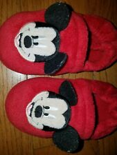 Childs Size 11/12 Disney Mickey Mouse House Bedroom Slippers