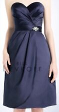 NEW BILL LEVKOFF Size 8 Style 745 Color E Navy 695 Cocktail Bridesmaid Dress NWT