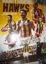 Cyril Rioli (Hawthorn FC) signed 2015 AFL Premiership poster : Norm Smith Medal