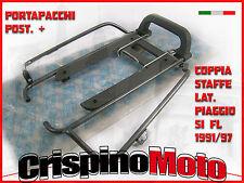 PORTAPACCHI POSTERIORE COMPLETO  + COPPIA STAFFE PIAGGIO SI FL 1991/97