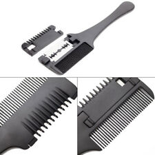 Hair Razor Comb Hair Cutting Thinning DIY Trimmer with Blades Double Sides New