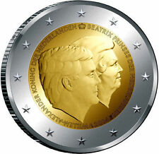 HOLANDA 2014. 2 EUROS SIN CIRCULAR. GUILLERMO Y BEATRIZ