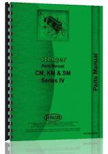 Steiger Cm Km Sm Tractor Parts Manual Catalog Series Iv