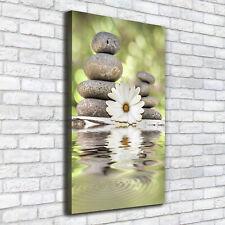Leinwand-Bild Kunstdruck Hochformat 50x100 Bilder Steine und Blumen