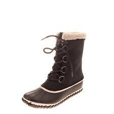 SOREL Leather Winter Boots Size 39.5 UK 6.5 US 8.5 Waterproof Sherpa Lining
