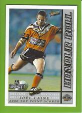 2001SELECT NRL IMPACT SERIES-HR3-TOP POINTSCORE 2000-JOEL CAINE-TIGERS