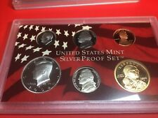 2004 silver proof set with silver quarters 10 piece box and coa