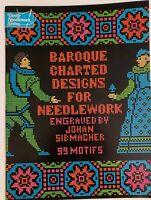 BAROQUE CHARTED DESIGNS FOR NEEDLEWORK Johan Sibmacher 1975 Vintage