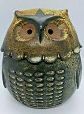 Pottery Ceramic Owl Trinket Holder Pre Owned