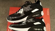 Nike air max 90 ultra 2.0 flynit trainers  in black and white size uk 4.5 Womens