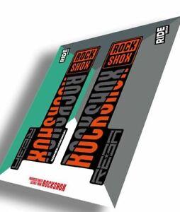 """RockShox Reba Decal Kit (27.5"""" and 29"""")  Orange   MY20 (Model Year 2020)"""