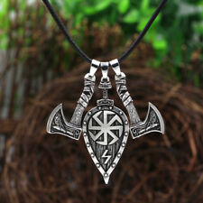 Viking Pirate Jewelry Slavic Axe Pendant Necklace Hammer Axe Charm Jewelry