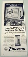 1953 Print Ad Emerson 21-Inch Space Saver TV Sets Television New York,NY