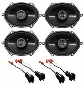 """Hifonics 6x8"""" Front+Rear Factory Speaker Replacement Kit For 2004-06 Ford F-150"""