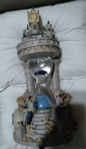 Disney Snow Globe HOURGLASS CINDERELLA Musical RARE  Lights Up!