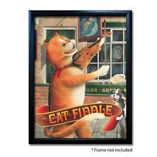 CAT & FIDDLE PUB SIGN POSTER PRINT | Home Bar | Man Cave | Pub Memorabilia