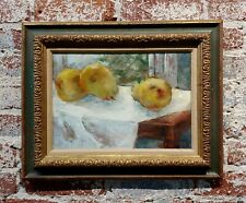 A. Loeffel 1950s  Still life of Pears -Impressionist Oil painting  oil painting