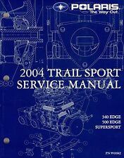 2004 POLARIS SNOWMOBILE TRAIL SPORT SERVICE MANUAL CD INCLUDED P/N 9918582 (146)