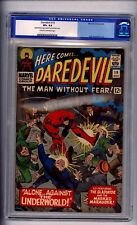 CGC (MARVEL) DAREDEVIL  19 VF+ 8.5  NICE!(@@)! C-0FF WHITE PAGES 1966 OLD LABLE