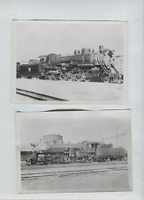 2  5x7 Chicago Burlington & Quincy 4992 & 4968 O-1a Photos Galesburg Illinois