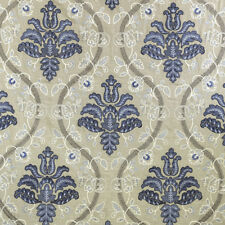 Scalamandre Upholstery Fabric- Isabella Embroidery / Porcelain 2.80 yd 27033-002