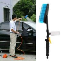 Car Wash Brush Hose Adapter Vehicle Truck Cleaning Water Spray Nozzle Set M5H7