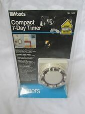Brand New Woods Indoor Compact 7- Day Timer Model 1456