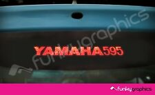 FIAT 500 ABARTH YAMAHA 595 3rd BRAKE LIGHT DECAL STICKER GRAPHIC x1 BLACK VINYL