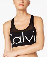 NEW Calvin Klein Illusion Active Logo Bikini Swim Top size M Medium Black