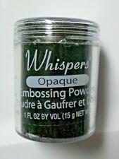 Whispers Opaque Black  Embossing Powder  1 Fl Ounce Net  NIP