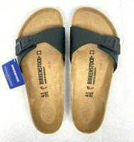 Birkenstock Women's Madrid Birko-Flor EVA Slide Sandals Black Size 41