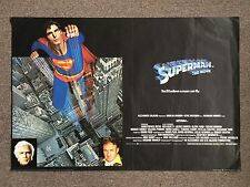 Superman 1978 Original British Movie Poster Christopher Reeve Marlon Brando