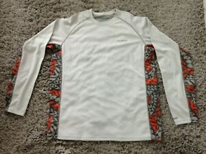 Simms Mens Solarflex Crew Shirt - UPF 50+ Long Sleeve - Size MEDIUM