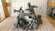1987 Highly Detailed Franklin Mint Pewter Figurine/Sculpture-Fire At Will