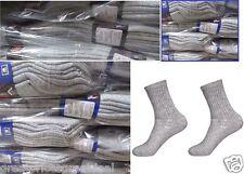 5-100 Dozens Wholesale Lots Mens Sports Crew Socks P274 Solid Grey 9-11 10-13